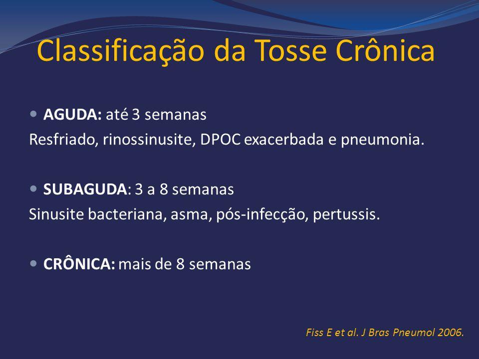 Classificação da Tosse Crônica