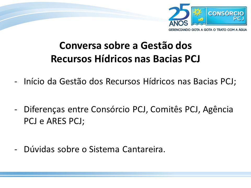Conversa sobre a Gestão dos Recursos Hídricos nas Bacias PCJ