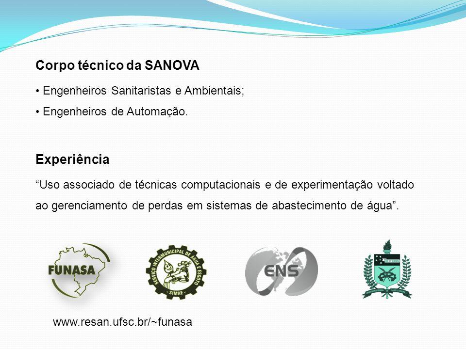 Corpo técnico da SANOVA