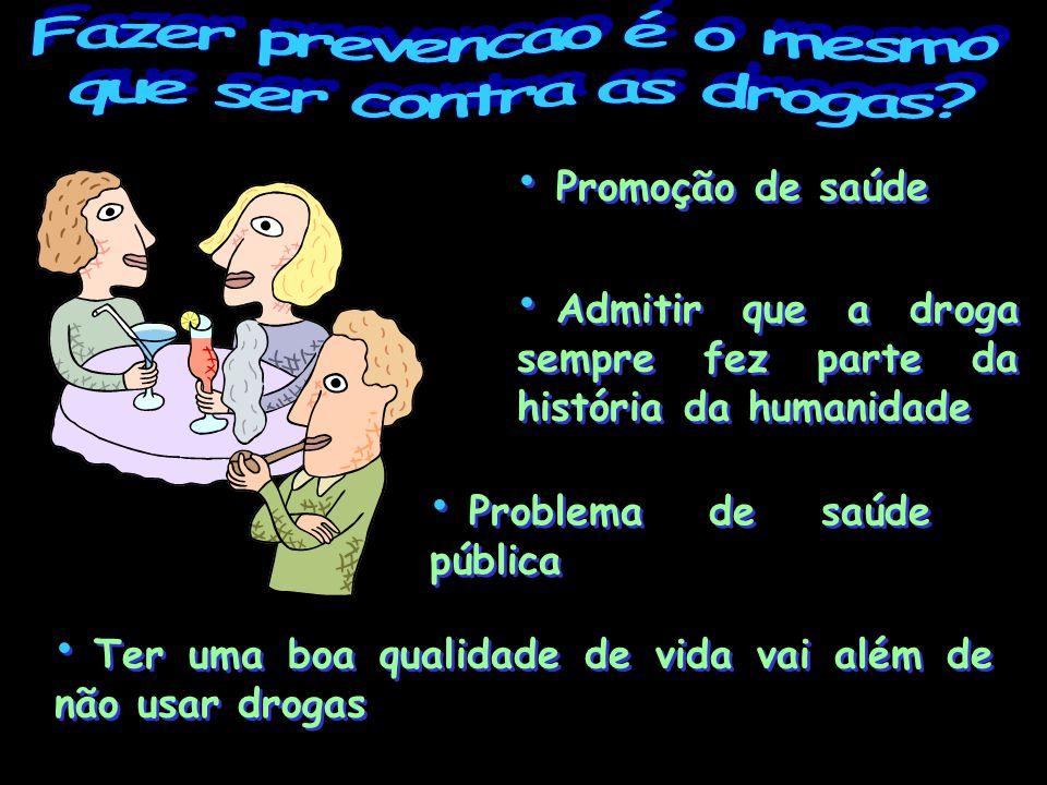 Fazer prevencao é o mesmo que ser contra as drogas