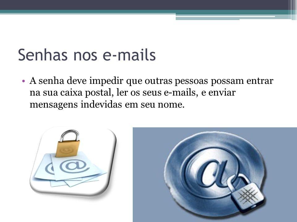 Senhas nos e-mails