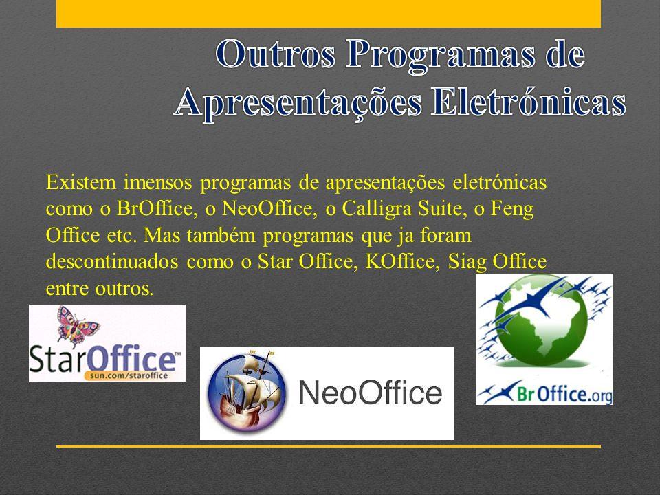 Outros Programas de Apresentações Eletrónicas
