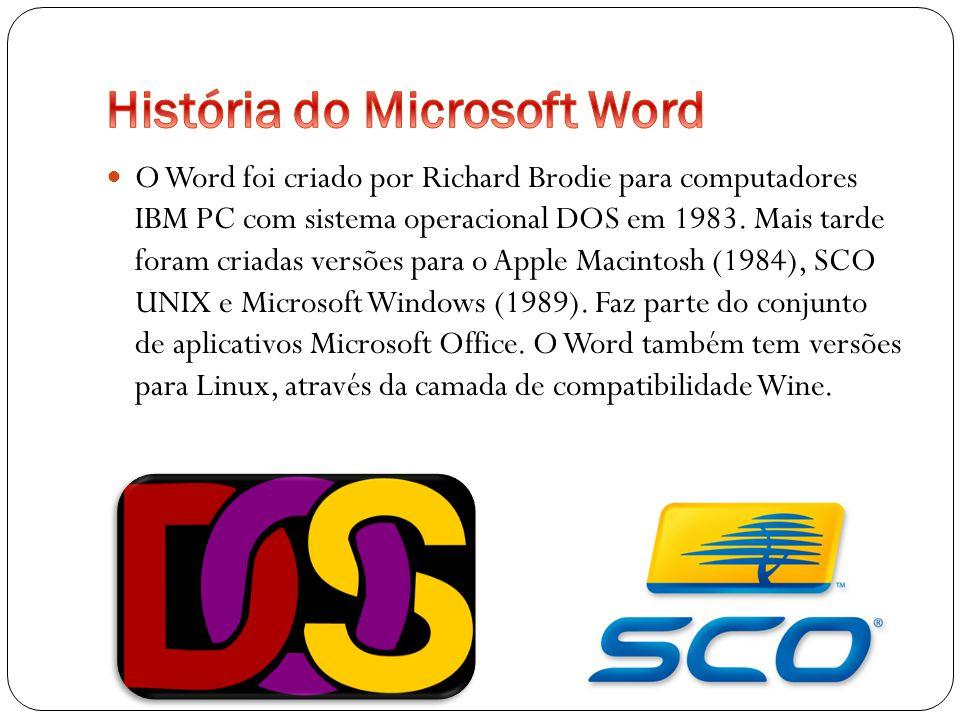 História do Microsoft Word