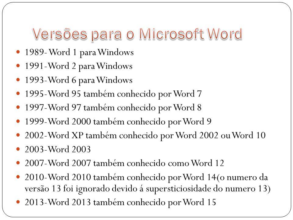 Versões para o Microsoft Word