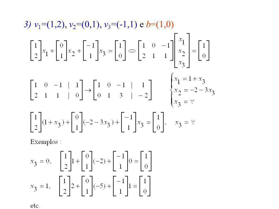 v1=(1,2), v2=(0,1), v3=(-1,1) e b=(1,0)