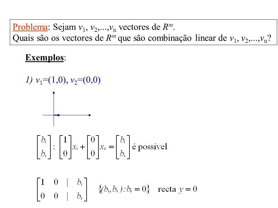 Problema: Sejam v1, v2,...,vn vectores de Rm.