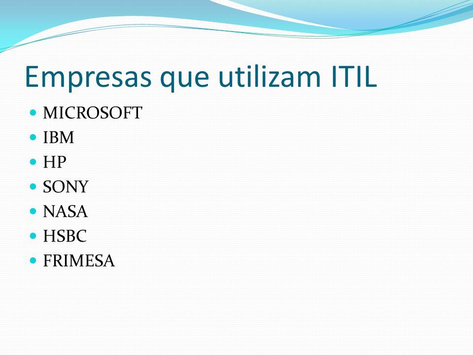 Empresas que utilizam ITIL