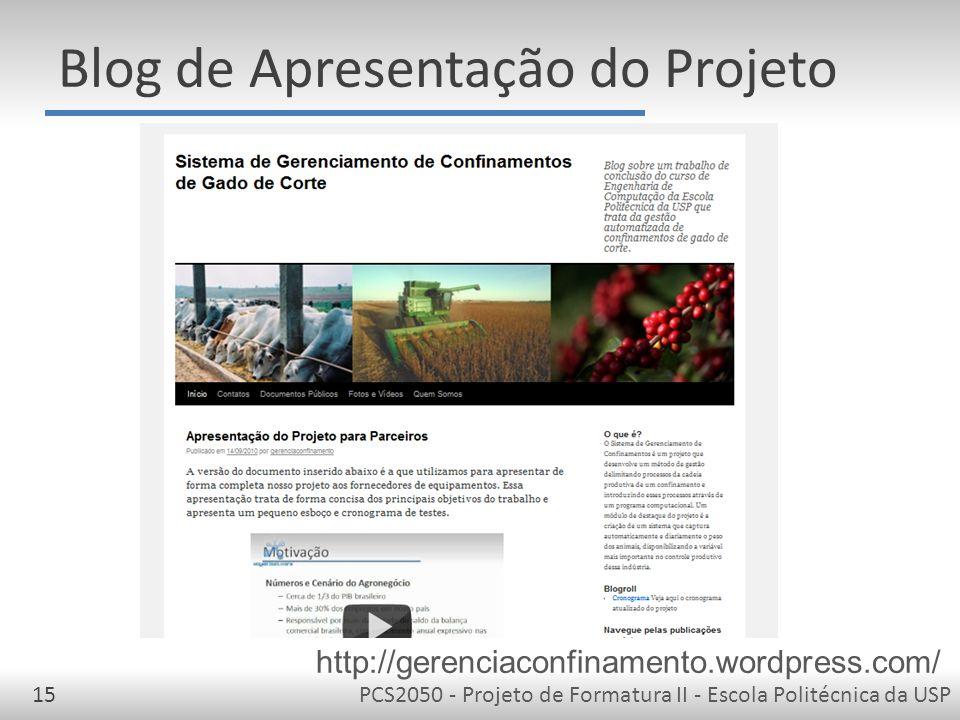 Blog de Apresentação do Projeto
