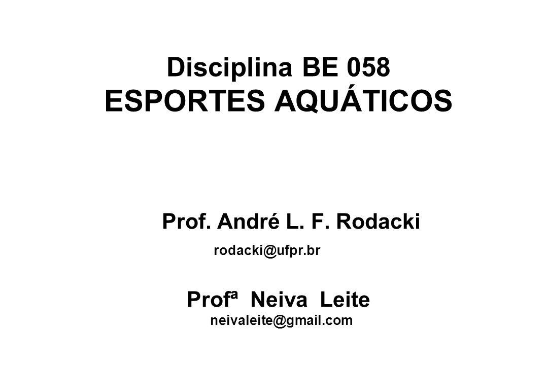 Disciplina BE 058 ESPORTES AQUÁTICOS