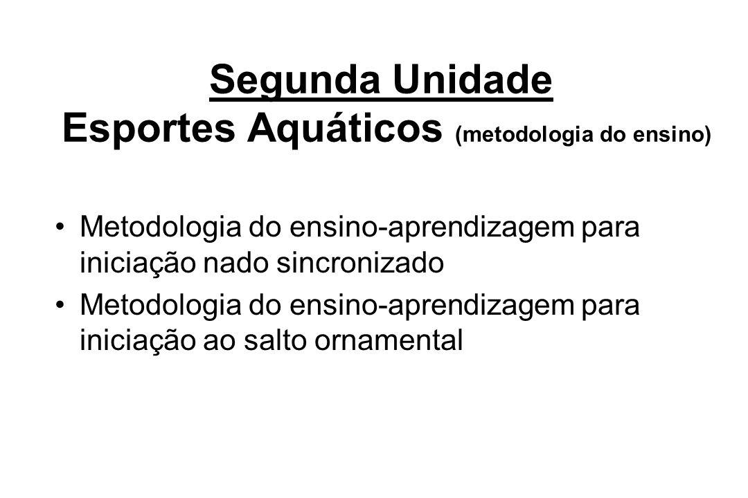 Segunda Unidade Esportes Aquáticos (metodologia do ensino)