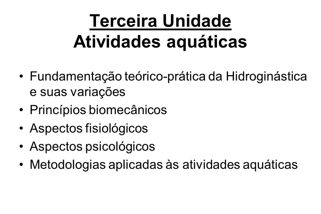 Terceira Unidade Atividades aquáticas