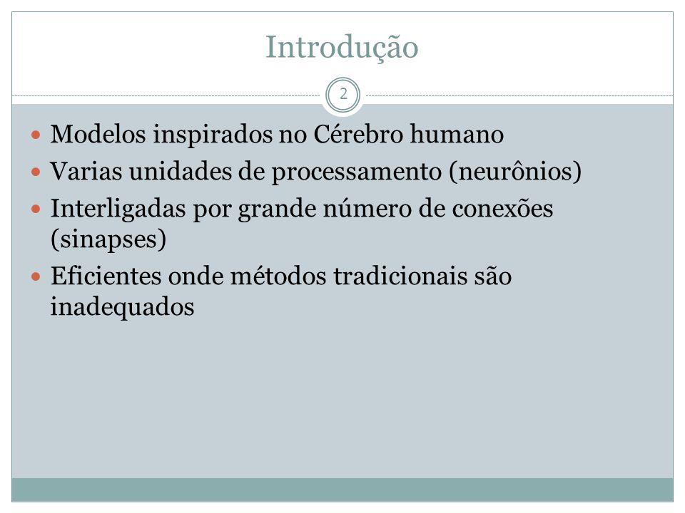 Introdução Modelos inspirados no Cérebro humano