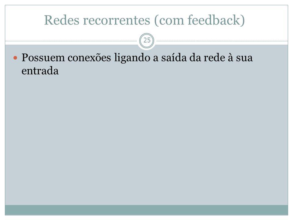 Redes recorrentes (com feedback)