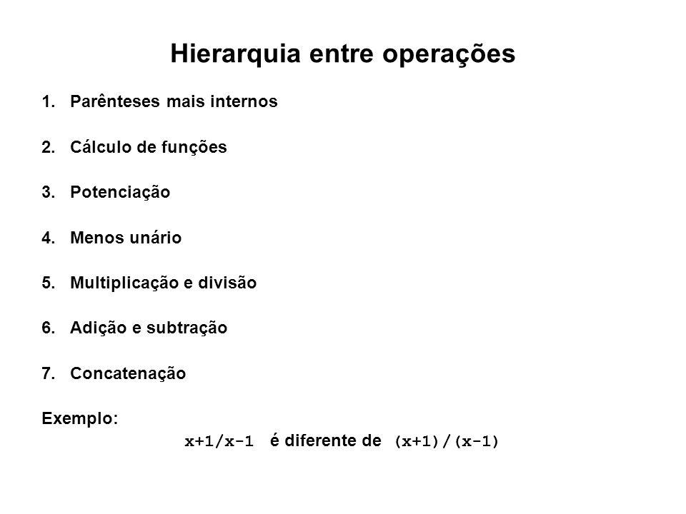 Hierarquia entre operações