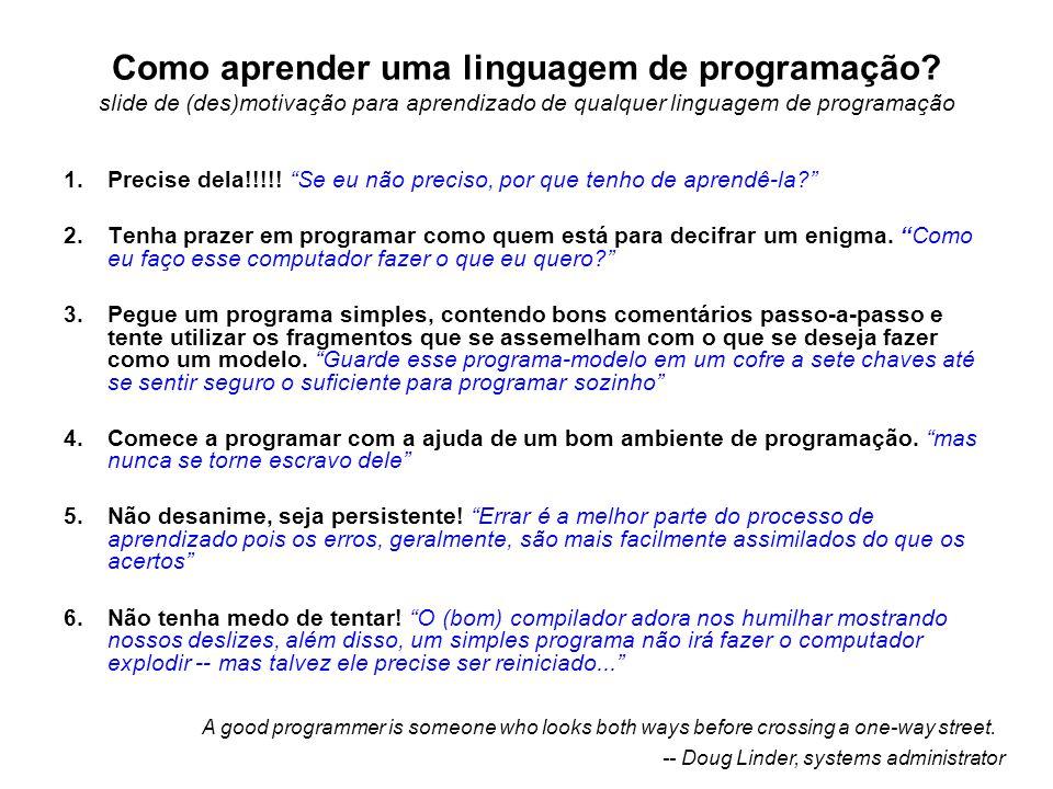 Como aprender uma linguagem de programação