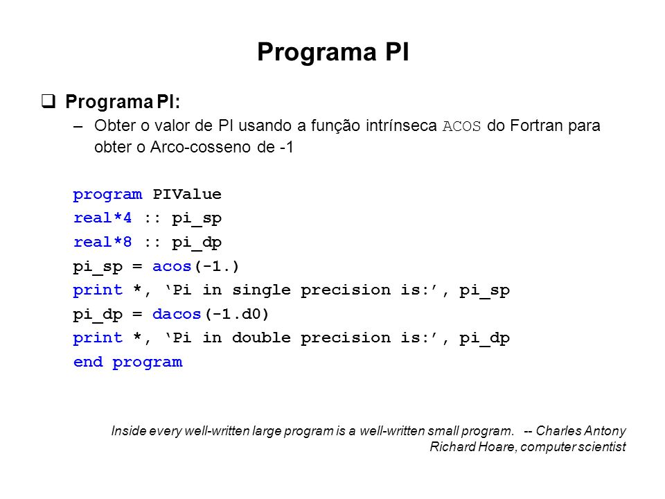 Programa PI Programa PI: