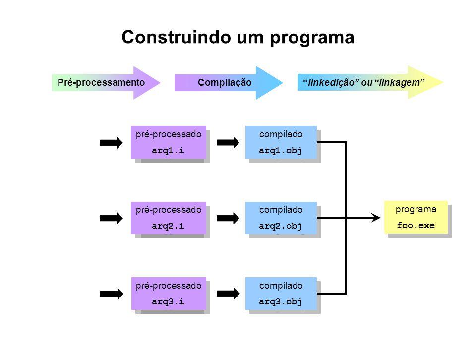 Construindo um programa