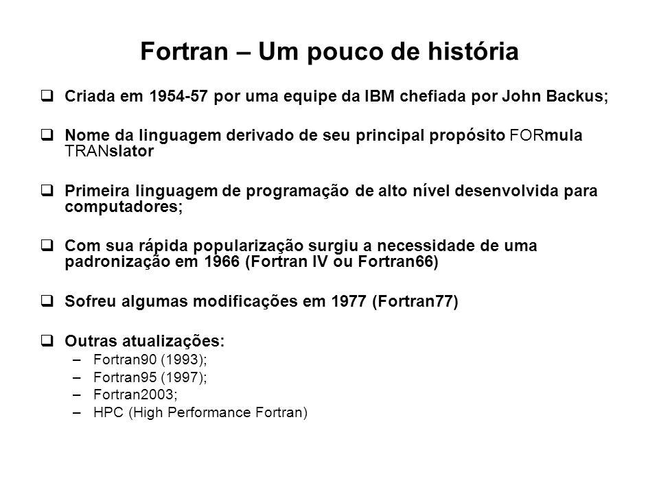 Fortran – Um pouco de história