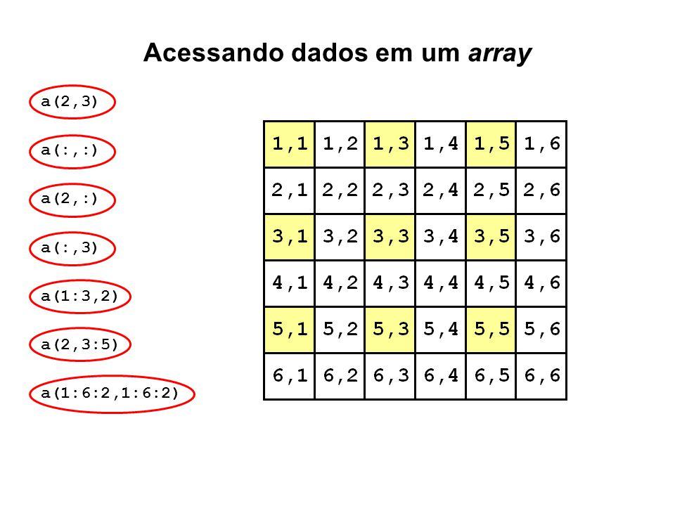 Acessando dados em um array
