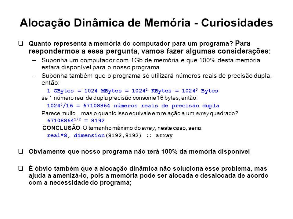 Alocação Dinâmica de Memória - Curiosidades