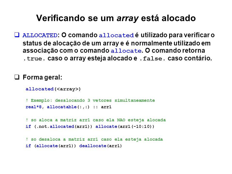 Verificando se um array está alocado