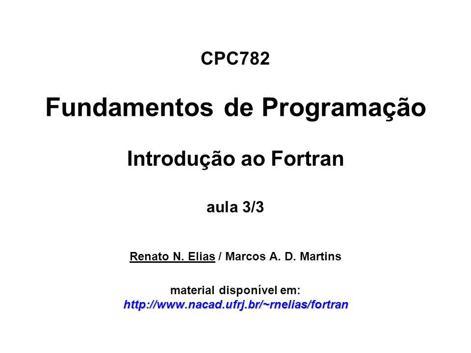 CPC782 Fundamentos de Programação