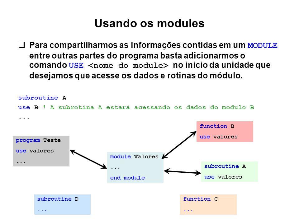 Usando os modules
