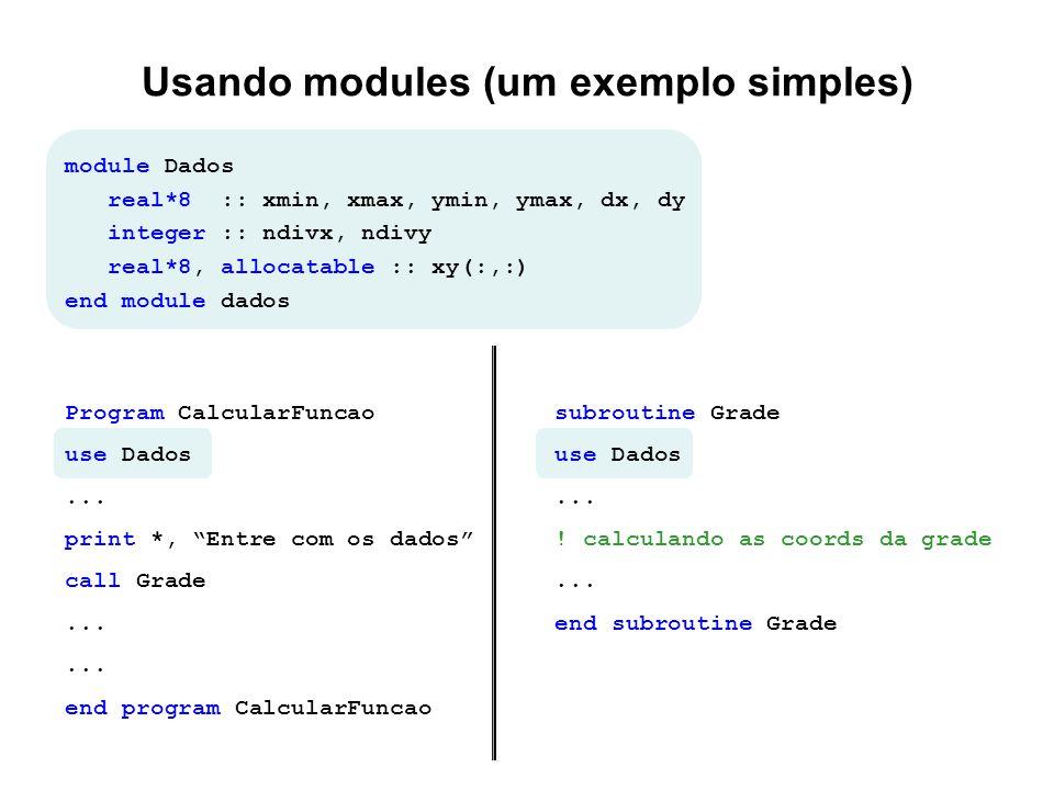 Usando modules (um exemplo simples)