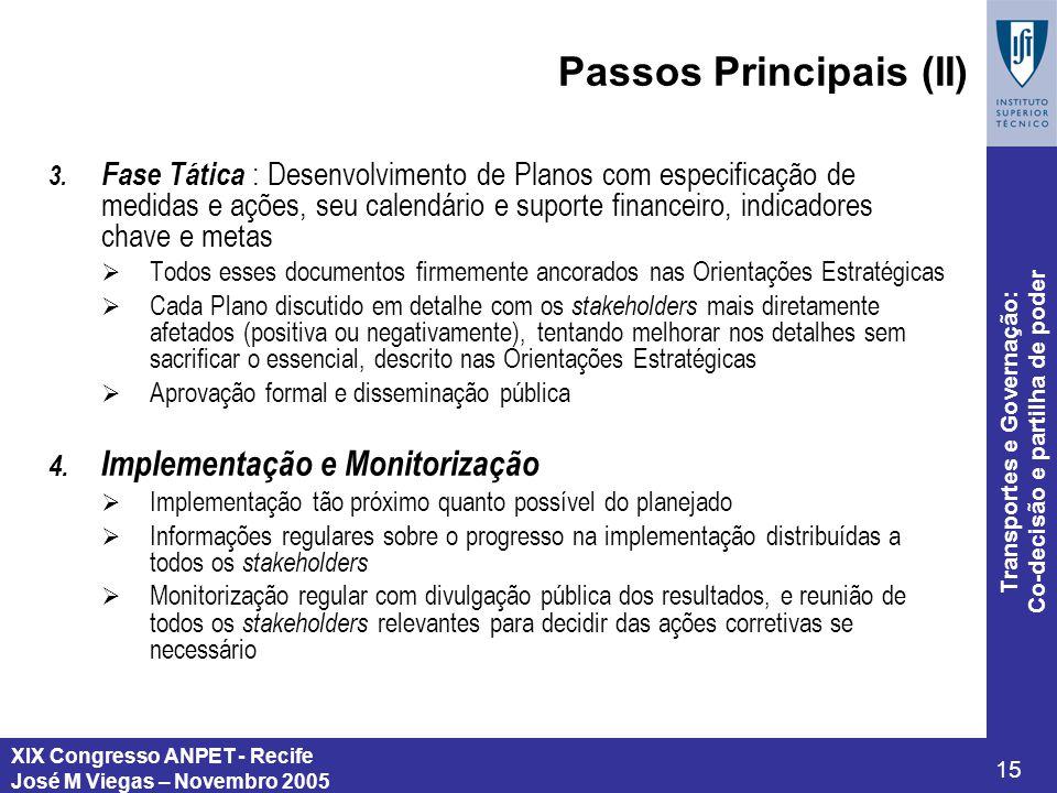 Passos Principais (II)