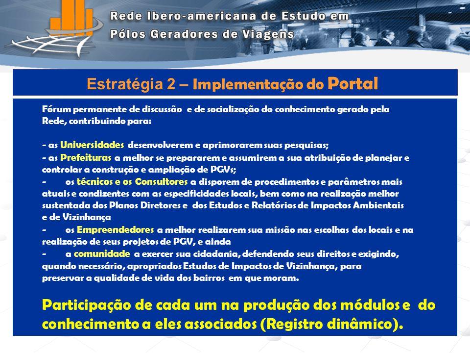Estratégia 2 – Implementação do Portal