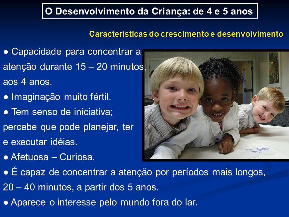 O Desenvolvimento da Criança: de 4 e 5 anos