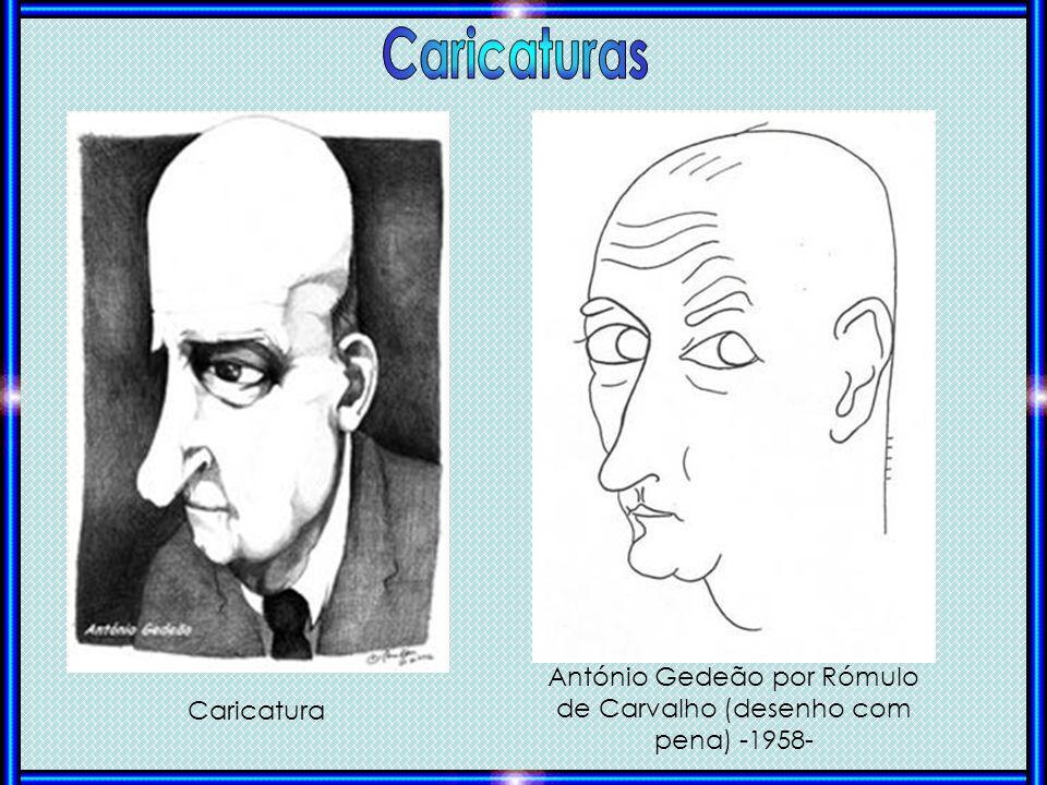 António Gedeão por Rómulo de Carvalho (desenho com pena) -1958-
