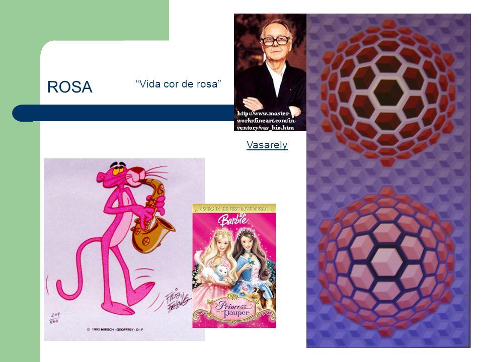 ROSA Vida cor de rosa Vasarely