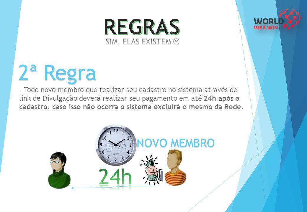 REGRAS 2ª Regra 24h NOVO MEMBRO SIM, ELAS EXISTEM 