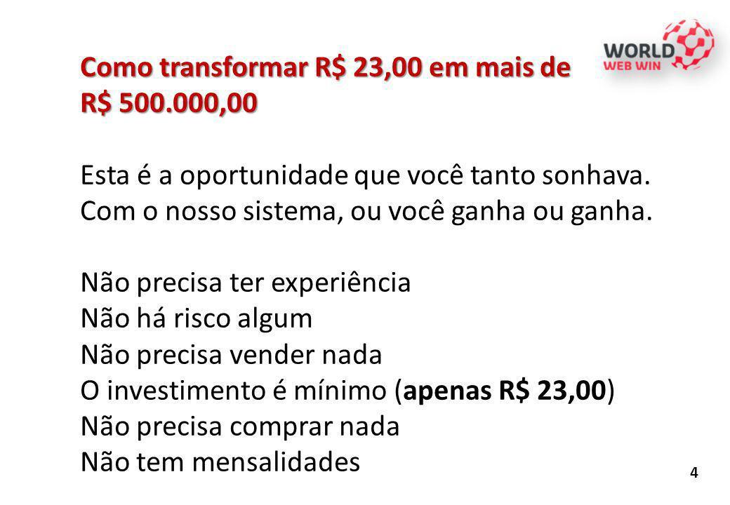 Como transformar R$ 23,00 em mais de R$ 500.000,00