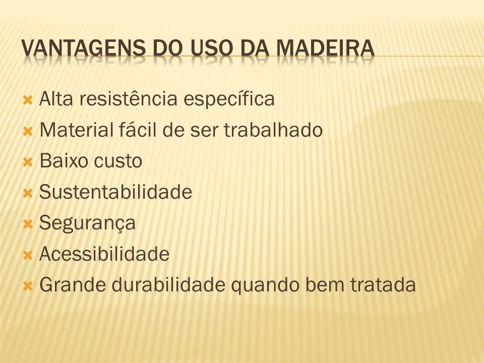 VANTAGENS DO USO DA MADEIRA