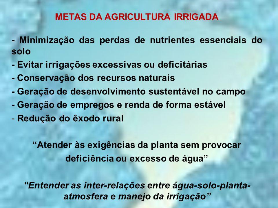 METAS DA AGRICULTURA IRRIGADA