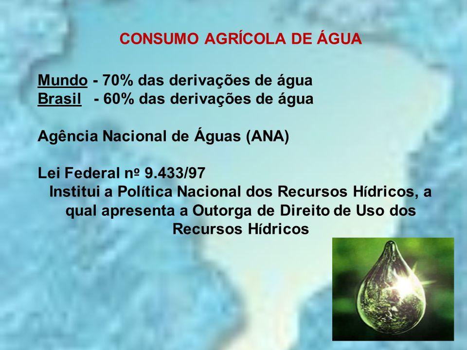 CONSUMO AGRÍCOLA DE ÁGUA