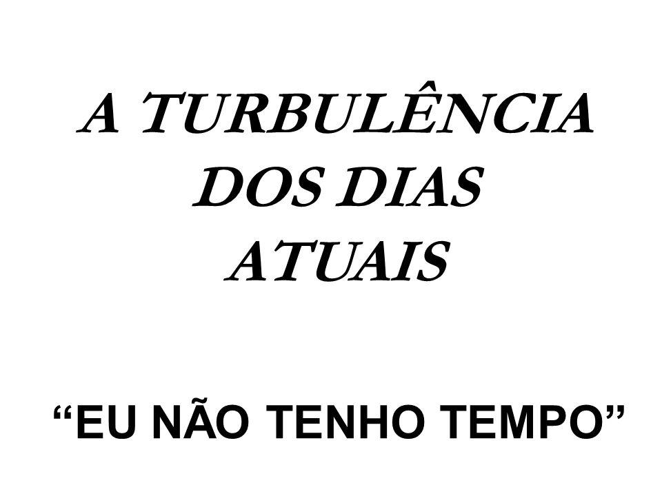 A TURBULÊNCIA DOS DIAS ATUAIS