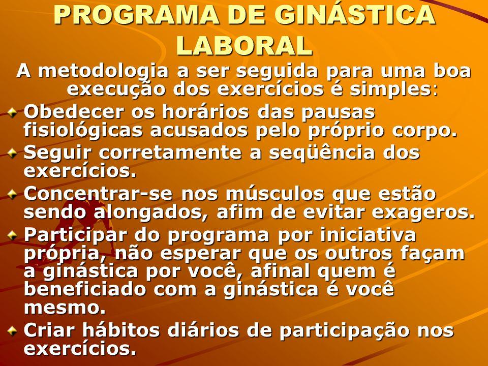 PROGRAMA DE GINÁSTICA LABORAL