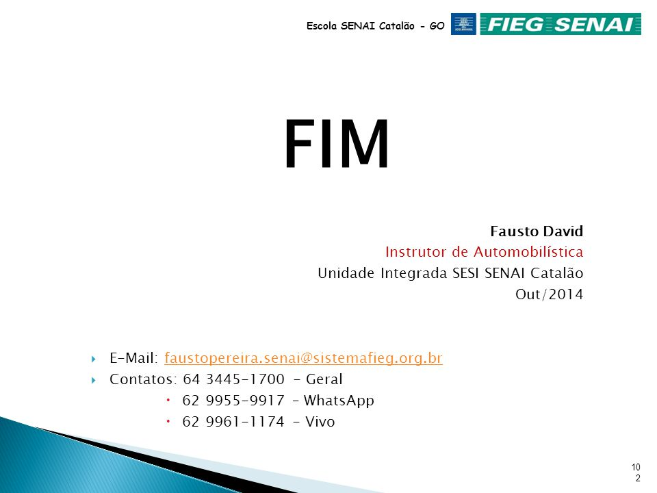 FIM Fausto David Instrutor de Automobilística