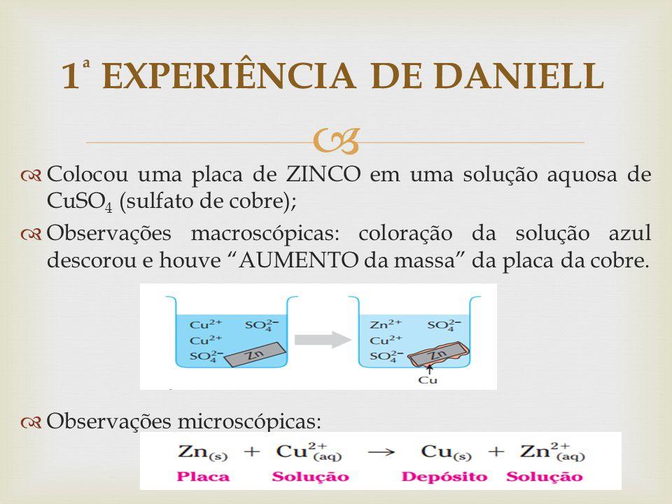 1ª EXPERIÊNCIA DE DANIELL