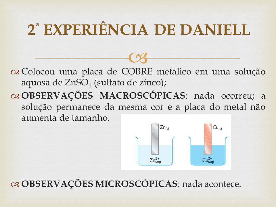 2ª EXPERIÊNCIA DE DANIELL
