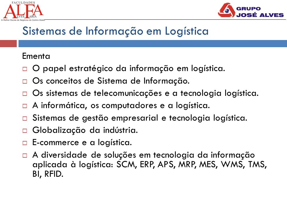 Sistemas de Informação em Logística