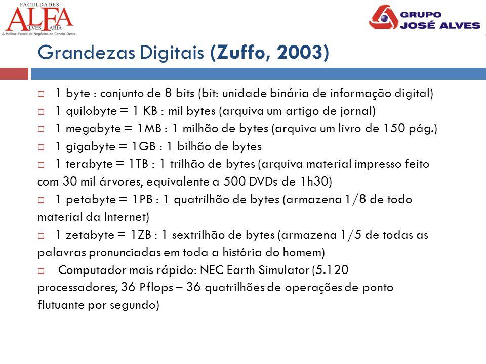 Grandezas Digitais (Zuffo, 2003)