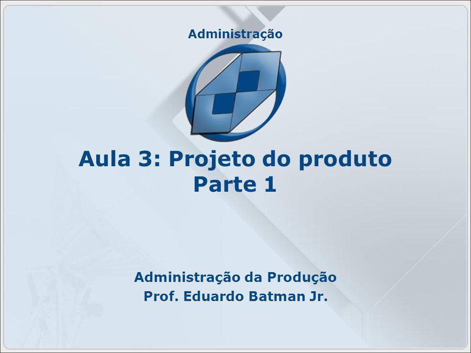 Aula 3: Projeto do produto Parte 1