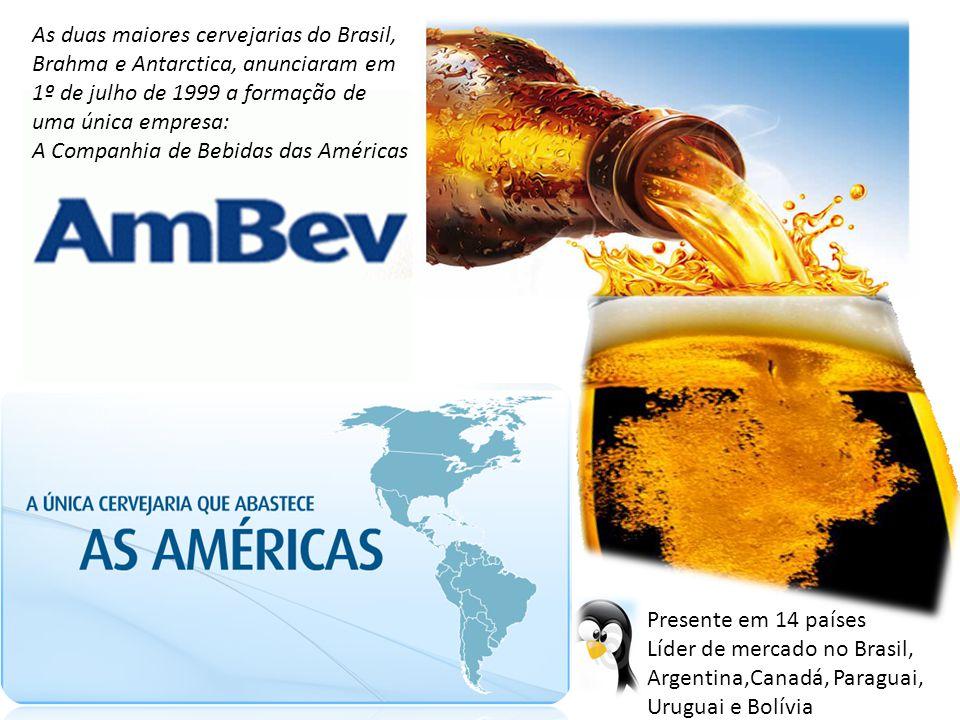As duas maiores cervejarias do Brasil,