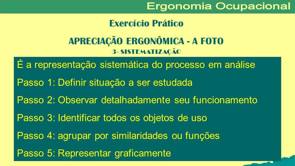 APRECIAÇÃO ERGONÔMICA - A FOTO