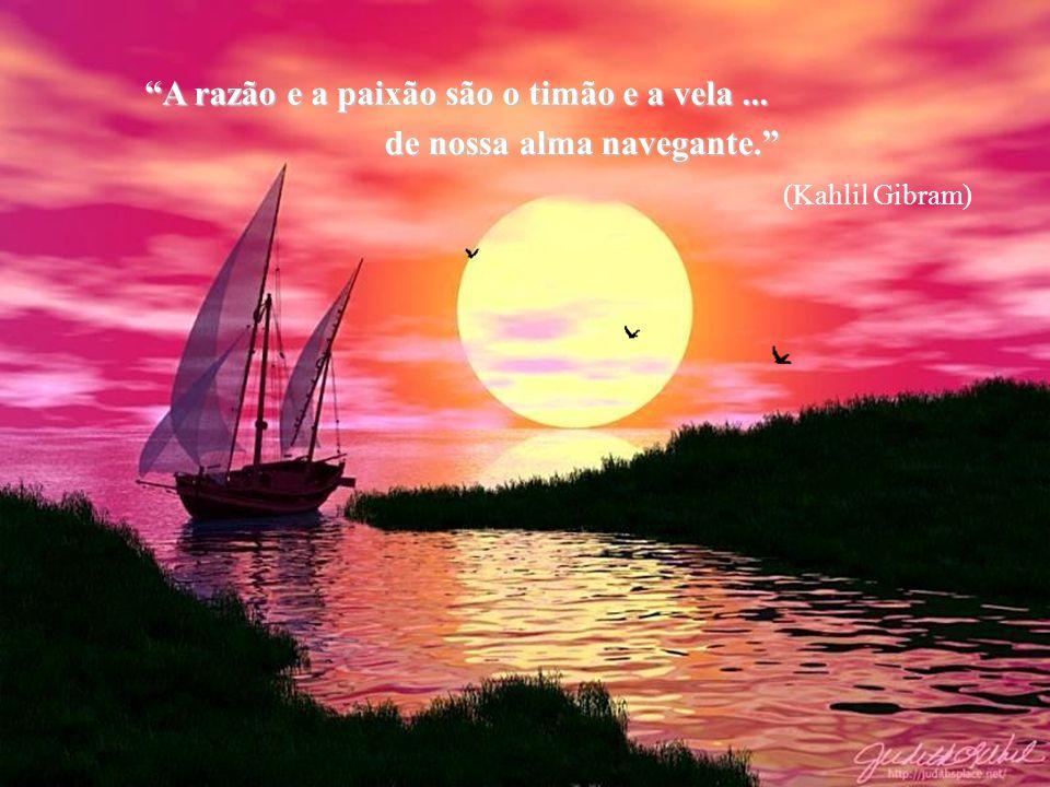 A razão e a paixão são o timão e a vela ... de nossa alma navegante.