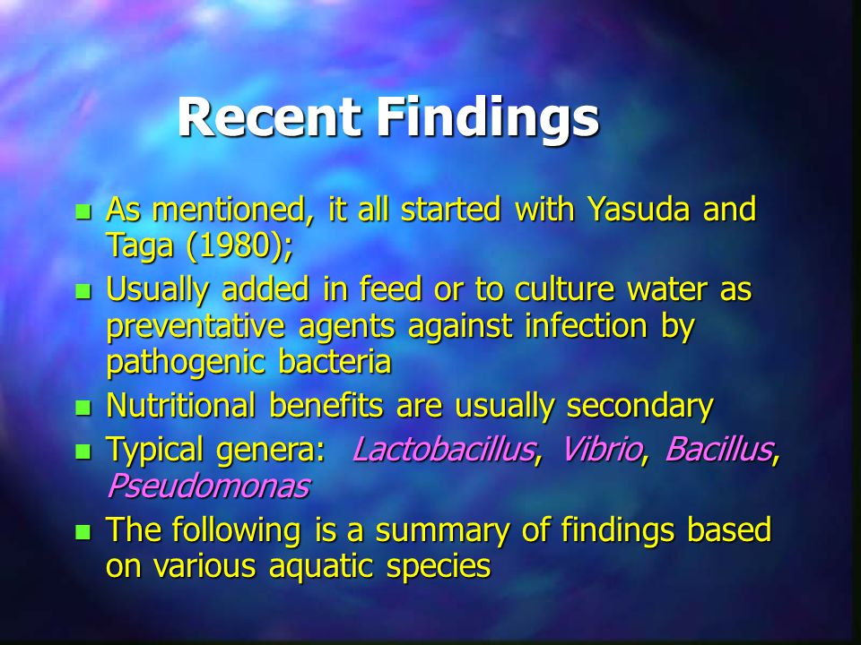 Recent Findings As mentioned, it all started with Yasuda and Taga (1980);